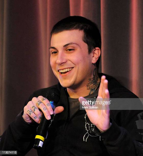 Frank Iero of My Chemical Romance during American Express Presents My Chemical Romance at The GRAMMY Museum on January 26 2011 in Los Angeles...