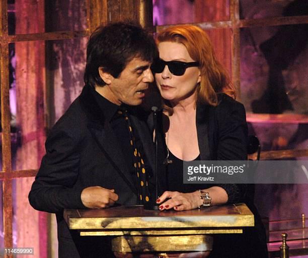 Frank Infante and Debbie Harry of Blondie inductees