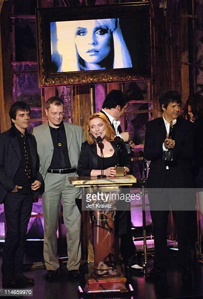 Frank Infante Gary Valentine Debbie Harry Jimmy Destri and Clem Burke of Blondie inductees