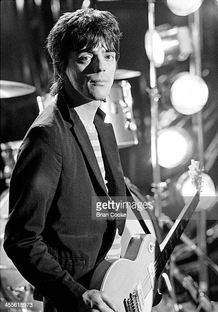 Frank Infante of Blondie photographed at Blanford Studios in Marylebone London on 8th March 1978 during the makingof a pop promo for their single...