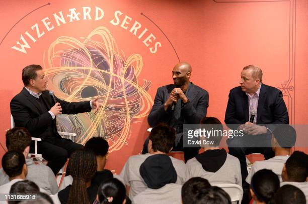 Frank Isola and Kobe Bryant and Tom Thibodeau discuss the launch of Granity Studios' debut book The Wizenard Series Training Camp to young athletes...