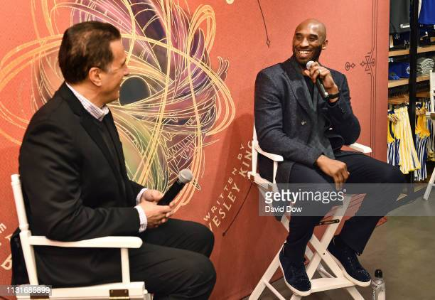 Frank Isola and Kobe Bryant launches Granity Studios' debut book The Wizenard Series Training Camp to young athletes at the flagship NBA Store on...