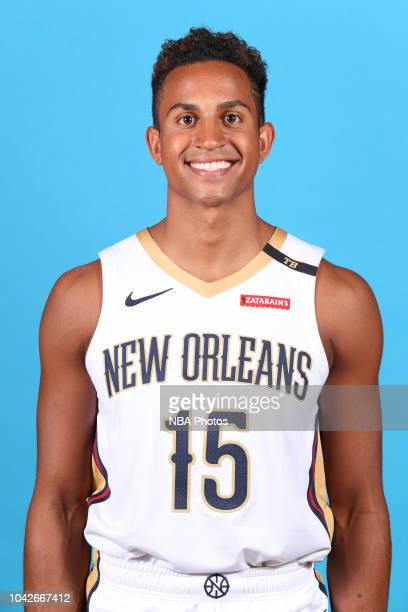Frank Jackson of the New Orlean Pelicans poses for a head shot during the 2018 NBA Media Day on September 24 2018 at the Ochsner Sports Performance...