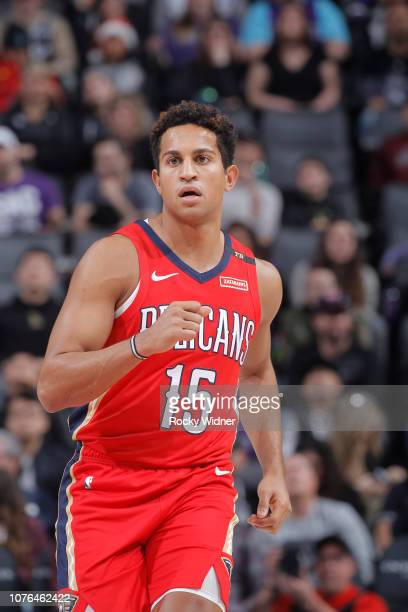Frank Jackson of the New Orleans Pelicans looks on during the game against the Sacramento Kings on December 23 2018 at Golden 1 Center in Sacramento...