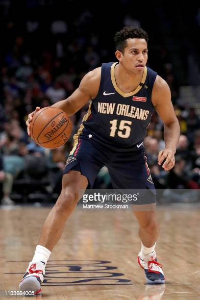 Frank Jackson of the New Orleans Pelicans plays the Denver Nuggets at the Pepsi Center on March 02 2019 in Denver Colorado NOTE TO USER User...