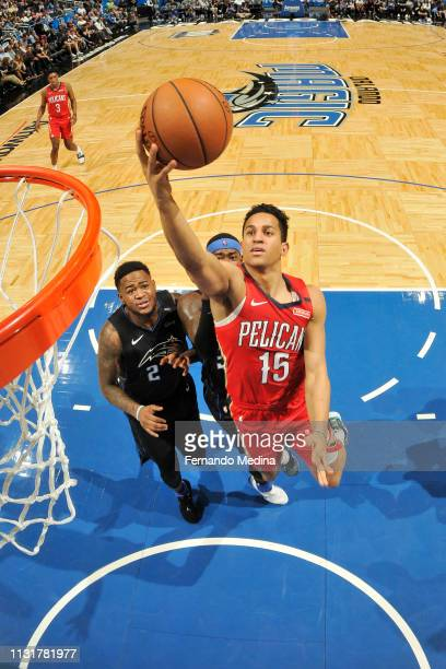 Frank Jackson of the New Orleans Pelicans shoots the ball against the Orlando Magic on March 20 2019 at Amway Center in Orlando Florida NOTE TO USER...