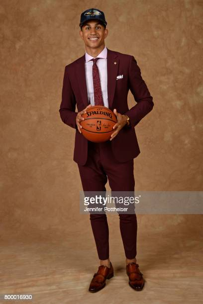 Frank Jackson poses for a portrait after being drafted number thirtyone overall to the New Orleans Pelicans during the 2017 NBA Draft on June 22 2017...