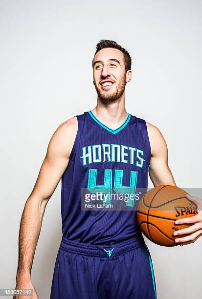 Frank Kaminsky of the Charlotte Hornets poses for a portrait during the 2015 NBA rookie photo shoot on August 8, 2015 at the Madison Square Garden...