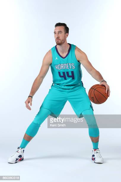 Frank Kaminsky of the Charlotte Hornets poses for a portrait during media day on September 25 2017 at Spectrum Center in Charlotte North Carolina...