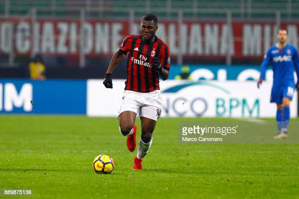 Frank Kessie' of Ac Milan in action during the Serie A football match between AC Milan and Bologna Fc Ac Milan wins 21 over Bologna Fc
