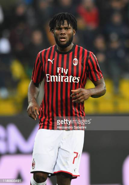 Frank Kessie of AC Milan looks on during the Serie A match between Parma Calcio and AC Milan at Stadio Ennio Tardini on December 1 2019 in Parma Italy