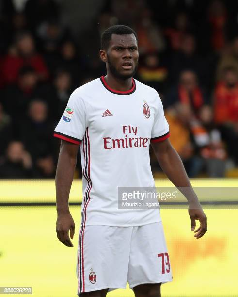 Frank Kessie of Milan during the Serie A match between Benevento Calcio and AC Milan at Stadio Ciro Vigorito on December 3 2017 in Benevento Italy
