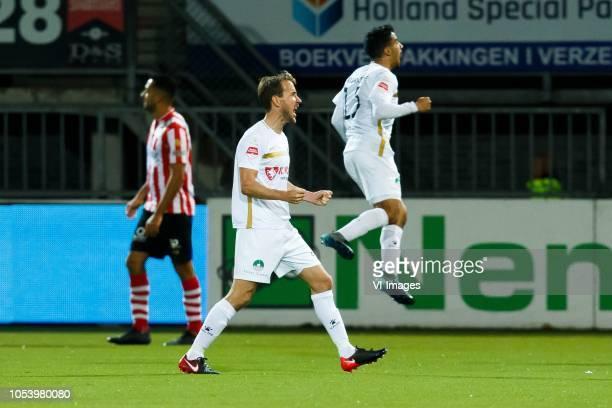 Frank Korpershoek of Telstar Anass Najah of Telstar during the First Division match between Sparta Rotterdam and SC Telstar at the Sparta stadium het...