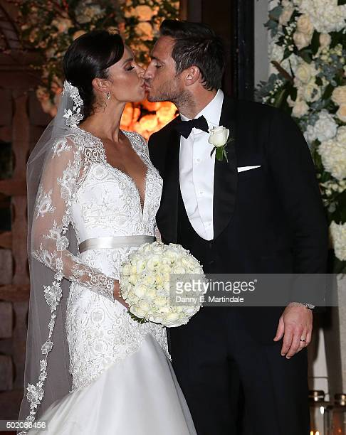 Frank Lampard and Christine Bleakley leave after getting married on December 20 2015 in London England