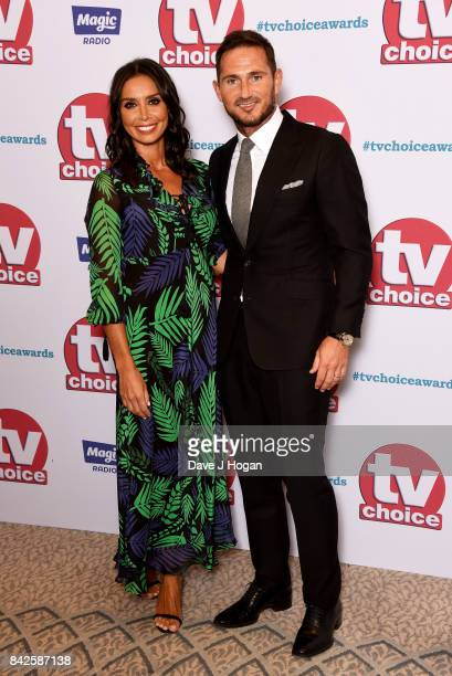 Frank Lampard and Christine Lampard arrive at the TV Choice Awards at The Dorchester on September 4 2017 in London England