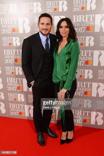 ONLY Frank Lampard and Christine Lampard attend The BRIT Awards 2017 at The O2 Arena on February 22 2017 in London England