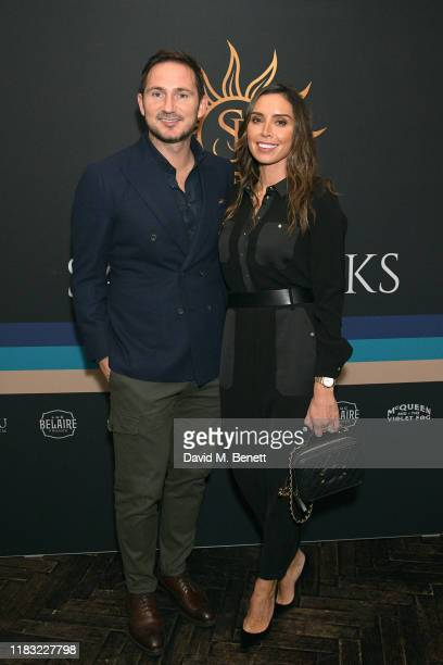 Frank Lampard and Christine Lampard attend the launch of Jamie Redknapp's fashion venture Sandbanks at Yopo The Mandrake Hotel on October 24 2019 in...