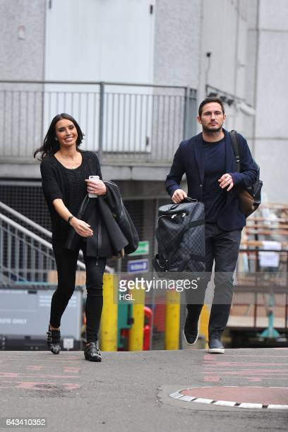 Frank Lampard and Christine Lampard seen at the ITV Studios on February 21 2017 in London England