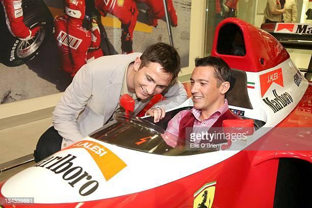 Frank Lampard and Frankie Dittori during Jo Macari's Ferrari and Maserati Servicing Centre Launch May 4 2007 in London Great Britain