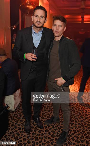 Frank Lampard and James Blunt attend The Warner Music Ciroc Brit Awards After Party on February 22 2017 in London England