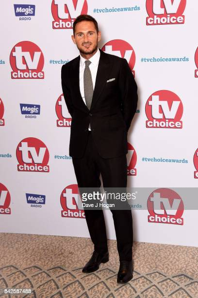Frank Lampard arrives at the TV Choice Awards at The Dorchester on September 4 2017 in London England