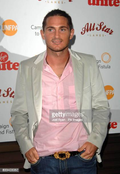 Frank Lampard arrives at the Virgin Unite Fistula Fundraising Evening in All Star Lanes in Bayswater, central London.