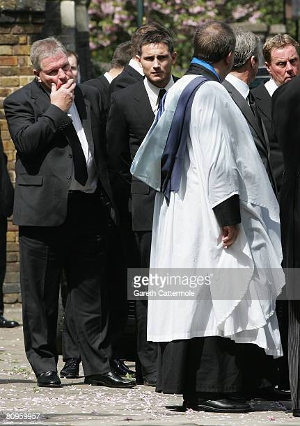 Frank Lampard attends the funeral of his mother Pat at St Margarets Church on May 2 2008 in Barking England