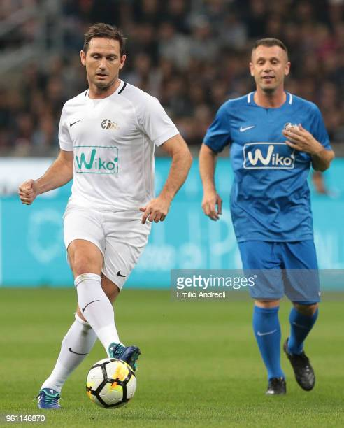 Frank Lampard in action during Andrea Pirlo Farewell Match at Stadio Giuseppe Meazza on May 21 2018 in Milan Italy
