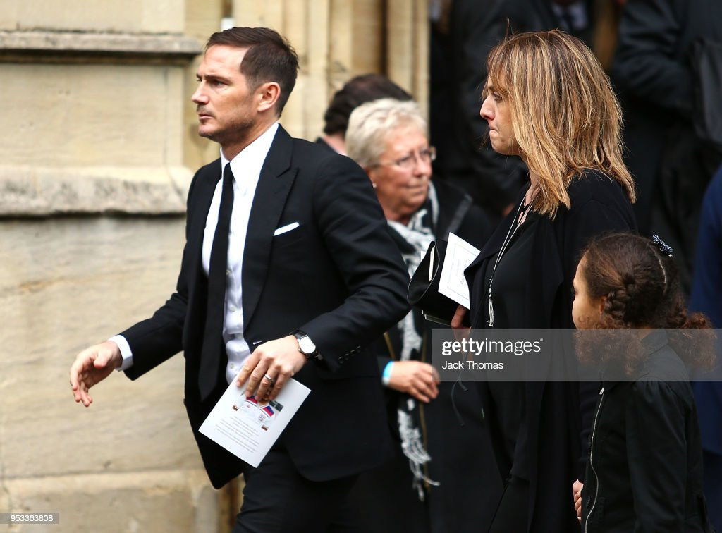 Frank Lampard leaves St Luke's & Christ Church after the memorial held for Ray Wilkins on May 1, 2018 in London, England.
