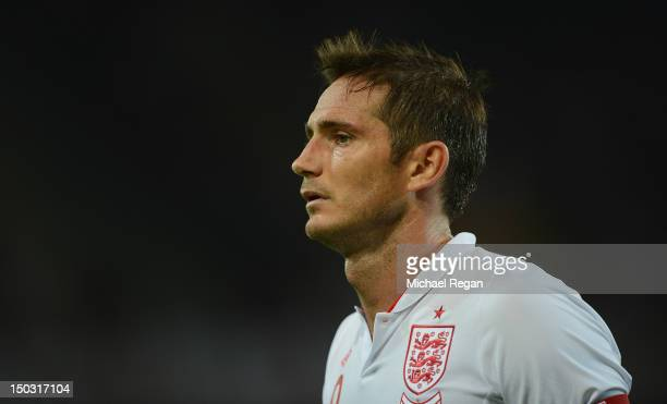 Frank Lampard looks on during the international friendly match between England and Italy at Stade de Suisse Wankdorf on August 15 2012 in Bern...