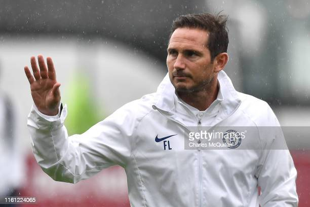 Frank Lampard, Manager of Chelsea arrives at the stadium prior to the Pre-Season Friendly match between Bohemians FC and Chelsea FC at Dalymount Park...