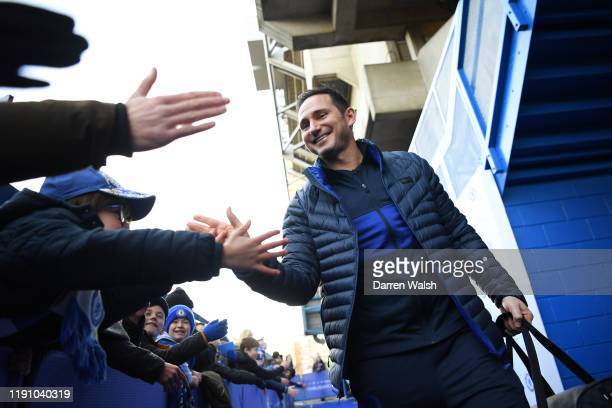 Frank Lampard Manager of Chelsea arrives at the stadium prior to the Premier League match between Chelsea FC and West Ham United at Stamford Bridge...