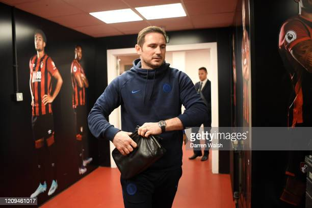 Frank Lampard Manager of Chelsea arrives at the stadium prior to the Premier League match between AFC Bournemouth and Chelsea FC at Vitality Stadium...