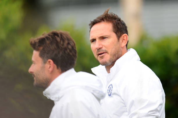 GBR: Chelsea FC Open Training Session and Press Conference