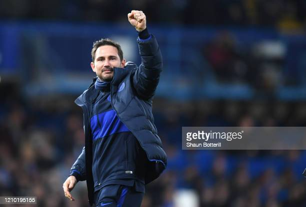 Frank Lampard, Manager of Chelsea celebrates victory during the FA Cup Fifth Round match between Chelsea FC and Liverpool FC at Stamford Bridge on...