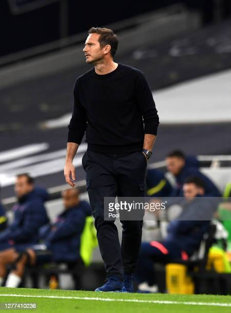 Frank Lampard Manager of Chelsea looks on during the Carabao Cup fourth round match between Tottenham Hotspur and Chelsea at Tottenham Hotspur...