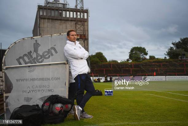 Frank Lampard, Manager of Chelsea looks on during the Pre-Season Friendly match between Bohemians FC and Chelsea FC at Dalymount Park on July 10,...