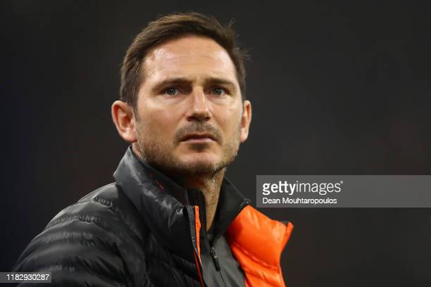 Frank Lampard Manager of Chelsea looks on prior to the UEFA Champions League group H match between AFC Ajax and Chelsea FC at Amsterdam Arena on...