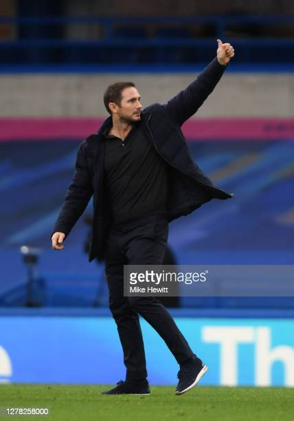 Frank Lampard Manager of Chelsea reacts following the Premier League match between Chelsea and Crystal Palace at Stamford Bridge on October 03 2020...