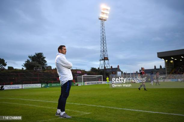 Frank Lampard Manager of Chelsea watches his team from the sideline during the PreSeason Friendly match between Bohemians FC and Chelsea FC at...