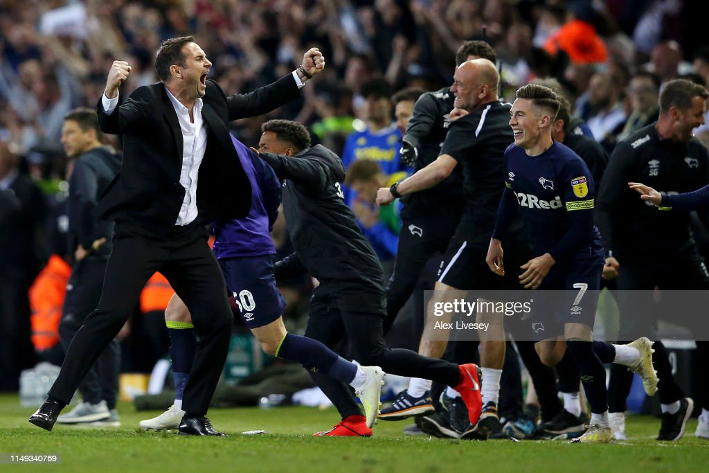 Leeds United v Derby County - Sky Bet Championship Play-off Semi Final: Second Leg : News Photo