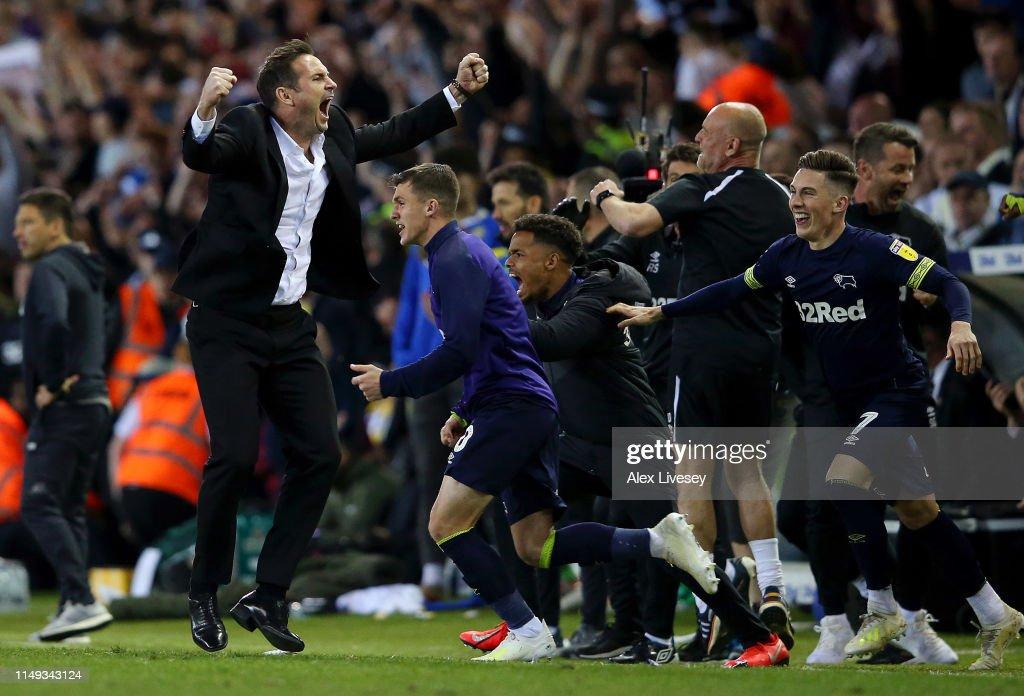 Leeds United v Derby County - Sky Bet Championship Play-off Semi Final: Second Leg : ニュース写真