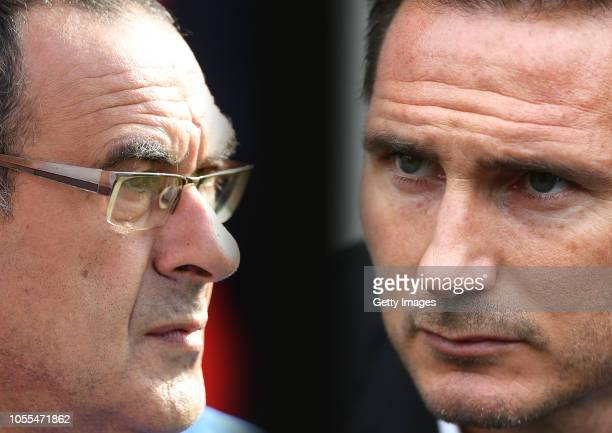 COMPOSITE OF IMAGES Image numbers 10470920041018784358 GRADIENT ADDED In this composite image a comparison has been made between Maurizio Sarri...