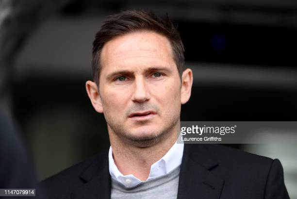 Frank Lampard Manager of Derby County looks on prior to the Sky Bet Championship match between Derby County and West Bromwich Albion at Pride Park...