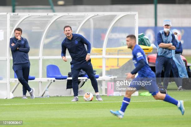 Frank Lampard of Chelsea during a friendly match between Chelsea and Reading at Cobham Training ground on June 10, 2020 in Cobham, England.