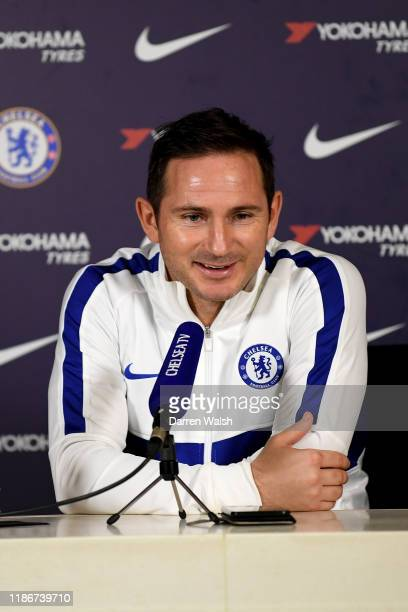 Frank Lampard of Chelsea during a press conference at Chelsea Training Ground on December 6 2019 in Cobham England