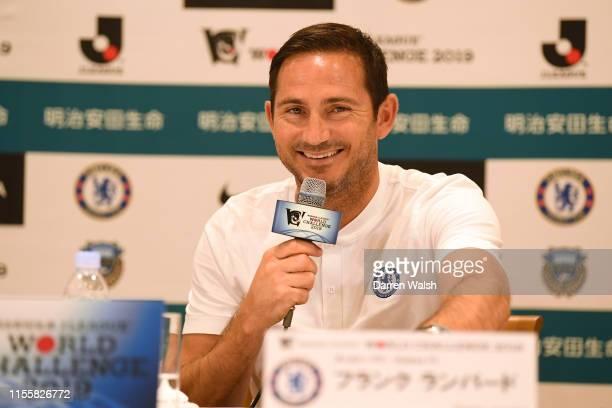 Frank Lampard of Chelsea during a press conference at Yokohama Royal Park Hotel on July 16 2019 in Yokohama Japan