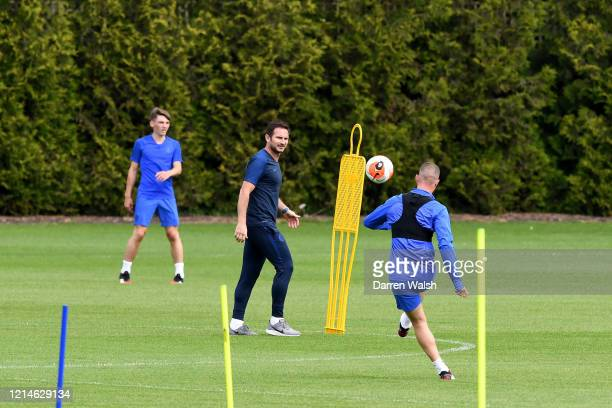 Frank Lampard of Chelsea during a small group training session at Chelsea Training Ground on May 22 2020 in Cobham England