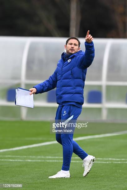 Frank Lampard of Chelsea during a training session ahead of the UEFA Champions League Group E stage match between Chelsea FC and FC Sevilla at...