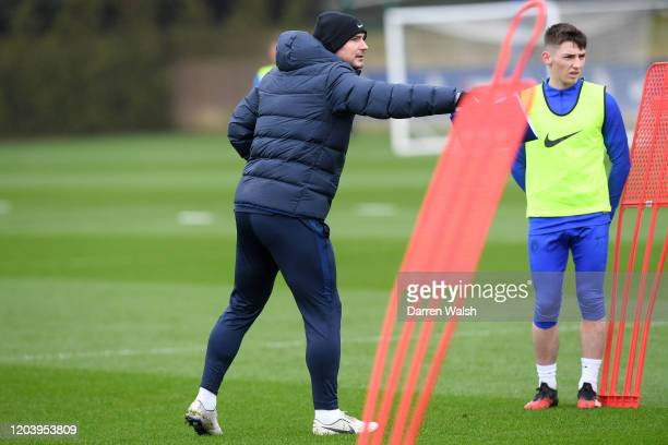 Frank Lampard of Chelsea during a training session at Chelsea Training Ground on February 28 2020 in Cobham United Kingdom